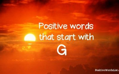 Positive Words That Start With G