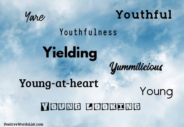 Positive adjectives that start with Y