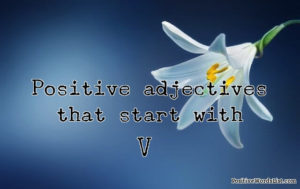 positive adjectives that start with V
